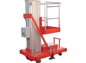 6米单柱铝合金平台 重量轻,机动性好