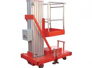 常德6米单柱铝合金平台 重量轻,机动性好