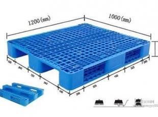 常德长沙1210网格川字塑料托盘 便于货物装卸、运输、保管和配送