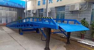 祝贺中建五局土木工程海外服务处安装10T移动式登车桥服务,集装箱支腿,高端大气的产品服务高端大气的公司