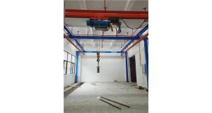 长缆电工科技股份有限公司订购组合式起重机KBK1-3安装调试完成